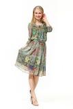 Schönes Betriebsamkeits-Frauen-Mode-Modell Lizenzfreies Stockfoto