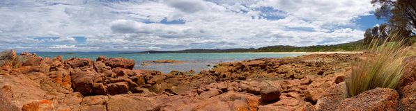 Schönes bicheno in Tasmanien Stockbilder