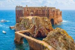Schönes Bild über Schloss, Berlengas, Portugal Stockbild