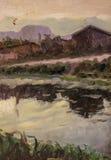 Schönes Bild der Landschaft ist für die Hintergrundanzeige passend Lizenzfreie Stockbilder