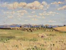 Schönes Bild der Landschaft ist für die Hintergrundanzeige passend Lizenzfreies Stockbild