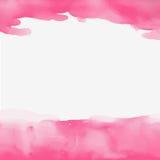 Schönes Bild des abstrakten Aquarellrosa-Hintergrundes Lizenzfreie Stockfotografie