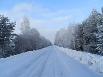 Schönes Bild des Winters landscape lizenzfreies stockbild