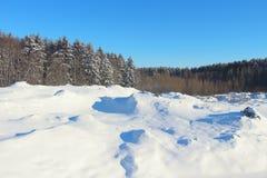 Schönes Bild des Winters landscape Stockbilder