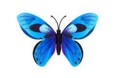 Schönes Blau farbiger Schmetterling Stockbild
