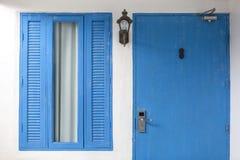 Schönes Blau hölzern gefärbt Stockbilder