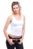 Schönes blondes Überweiß Lizenzfreie Stockfotografie