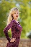 Schönes blondes Art und Weisebaumuster Lizenzfreie Stockfotos