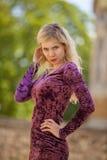 Schönes blondes Art und Weisebaumuster Lizenzfreies Stockbild