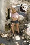 Schönes blondes Baumuster Stockfotos