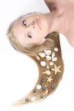 Schönes blondes der Nahaufnahme Stockbild