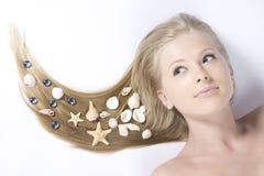 Schönes blondes der Nahaufnahme Lizenzfreie Stockbilder