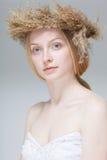 Schönes blondes Frauen-Gesicht Lizenzfreies Stockbild