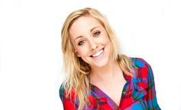 Schönes blondes Frauen-Lächeln Lizenzfreie Stockfotografie