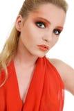 Schönes blondes Frauenportrait Lizenzfreie Stockfotos