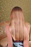 Schönes blondes Haar Stockfotos