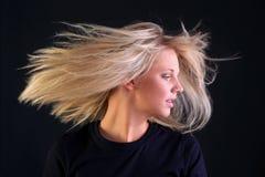 Schönes blondes Haar Stockfoto