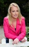 Schönes blondes junge Frauen-Porträt Lizenzfreie Stockbilder