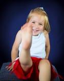 Schönes blondes kleines Mädchen Lizenzfreies Stockbild