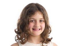 Schönes blondes kleines Mädchen Porträt Lizenzfreie Stockfotografie