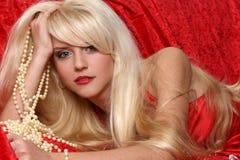 Schönes blondes Mädchen Lizenzfreie Stockbilder