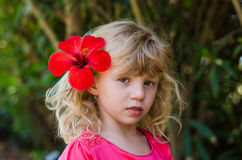 Schönes blondes Mädchen Stockbild