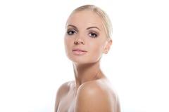 Schönes blondes Mädchen getrennt Stockbilder