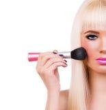 Schönes blondes Mädchen mit perfektem bilden Lizenzfreie Stockfotografie