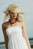 Schönes blondes Mädchenmode-modell, Porträt Lizenzfreies Stockfoto