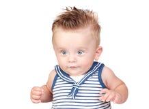 Schönes blondes Schätzchen mit blauen Augen lizenzfreie stockfotos