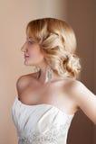 Schönes blondes Verlobtes mit Fachmann bilden Lizenzfreies Stockfoto
