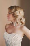Schönes blondes Verlobtes mit Fachmann bilden Lizenzfreie Stockfotos