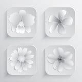 Schönes Blumen-Vektor-Design für Badekurort Lizenzfreie Stockfotos