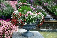Schönes Blumenbett Stockfoto