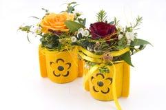 Schönes Blumengeschenk Stockfotos