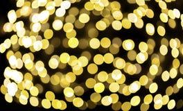 Schönes bokeh des Kerzenlichtes Stockfotos