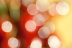 Schönes bokeh von unscharfen Lichtern Lizenzfreie Stockfotos