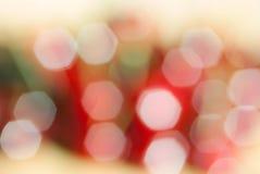 Schönes bokeh von unscharfen Lichtern lizenzfreie stockbilder