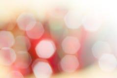 Schönes bokeh von unscharfen Lichtern Stockfotografie