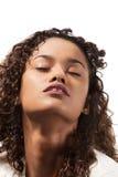 Schönes brasilianisches Mädchenporträt Stockfotos