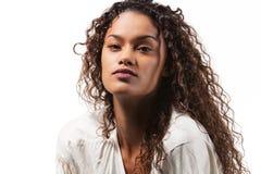 Schönes brasilianisches Mädchenporträt Stockbild