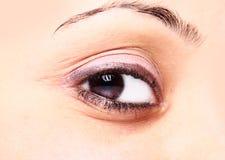 Schönes braunes Auge Stockfotos