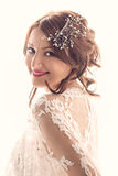 Schönes Braut-Lächeln Stockfoto