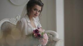 Schönes Braut-Portrait stock footage