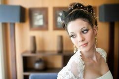 Schönes Brautschauen stockfoto