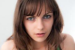 Schönes Brown-Haar-Mädchen Lizenzfreie Stockfotos