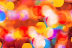 Schönes buntes bokeh festliche Lichter Lizenzfreies Stockfoto