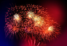 Schönes buntes Feuerwerk lizenzfreie stockfotografie