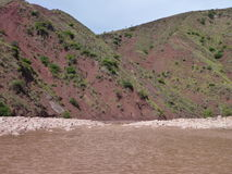 Schönes buntes Gebirgs-Kordilleren-De los Frailes in Bolivien Stockfotografie