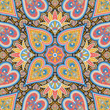 Schönes buntes Textildruck-Schaldesign Stockfoto